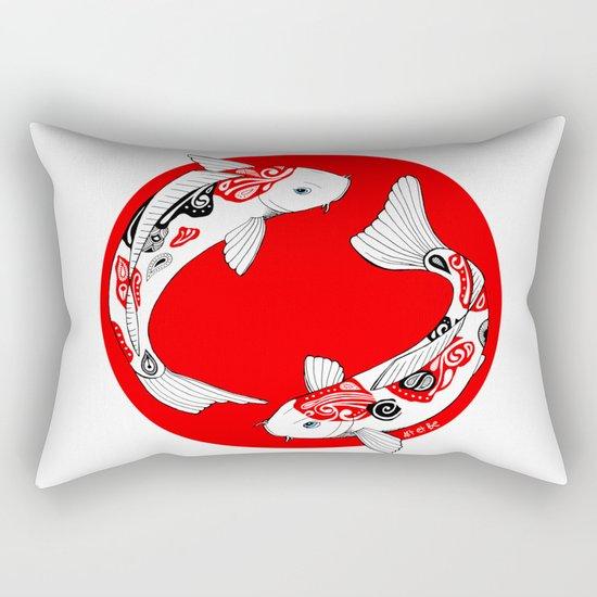 Japanese Kois Rectangular Pillow