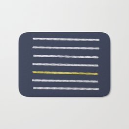 Lines and Shy Yellow Bath Mat