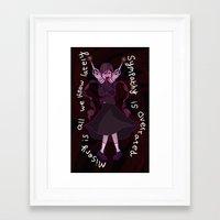 dangan ronpa Framed Art Prints featuring Dangan Ronpa - Sympathy is Overrated  by MinawaKittten