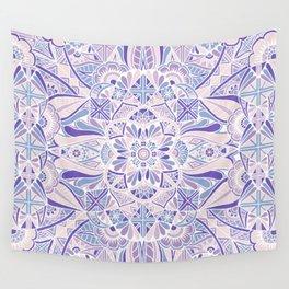 Pastel Purple Inverted Mandala Wall Tapestry