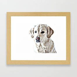 Drawing of a Yellow Lab Framed Art Print