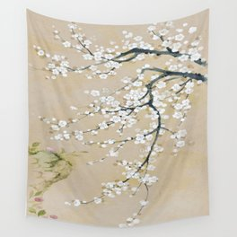 Japanese apricot flower painting,oriental,chinoiserie,korean painting Wall Tapestry
