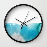 mineral Wall Clocks featuring mineral 01 by LEEMO