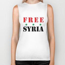 FREE SYRIA Biker Tank