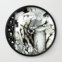 sphynx Wall Clocks featuring Sphynx by Elias Aquino