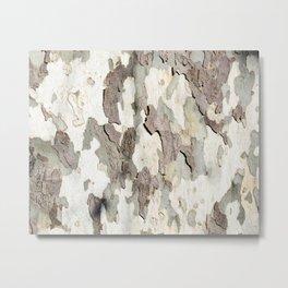 Bark Map Metal Print