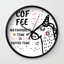 3 Happiness Is A Cup Of Coffee Wall Clock