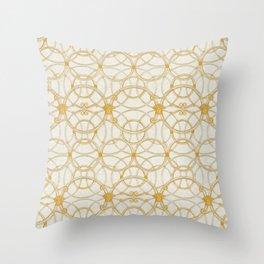 Medusa Scala Gold Throw Pillow