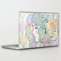 shabby chic Laptop & iPad Skins featuring Shabby Chic by Thea Maia