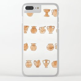 Greek Vases Clear iPhone Case