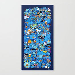 Twitter birds Canvas Print