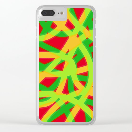 lively lines Clear iPhone Case