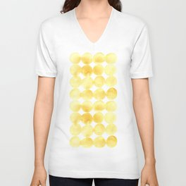 Imperfect Geometry Yellow Circles Unisex V-Neck