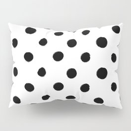 Modern Handpainted Abstract Polka Dot Pattern Pillow Sham