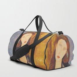 Jeanne Hebuterne woman portrait by Amedeo Modigliani Duffle Bag