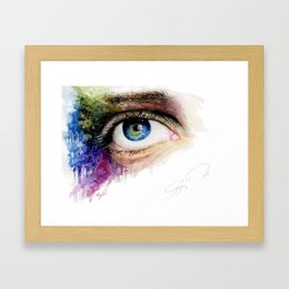 My eye Framed Art Print