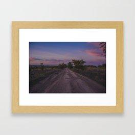 Summer landscae .Sunset Framed Art Print