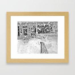 snow in the garden Framed Art Print