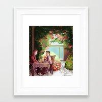 klaine Framed Art Prints featuring Spring Klaine by CRAZiE-CRiSSiE