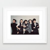 one direction Framed Art Prints featuring One Direction by Diana T