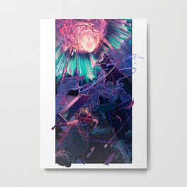 Reunion (cyan) Metal Print