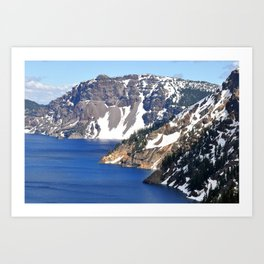 CRATER LAKE - 1 Art Print