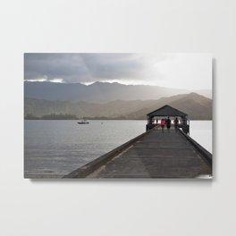 Northshore Hanalei Pier Kauai Metal Print
