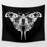 moth Wall Tapestries featuring Death Moth by Justin Poulter