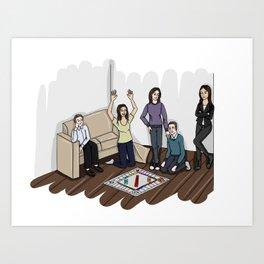 AOS Bus Team Playing Monopoly Art Print