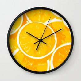 Orangy Oranges Wall Clock
