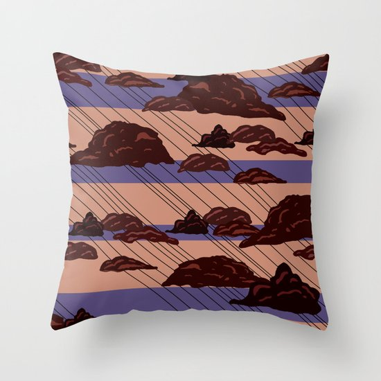 Rain Clouds Throw Pillow