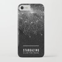 poster iPhone & iPod Cases featuring STARGAZING IS LIKE TIME TRAVEL by Amanda Mocci