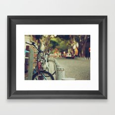 The street is quiet Framed Art Print