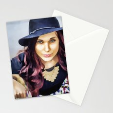 Her own fashion show Stationery Cards