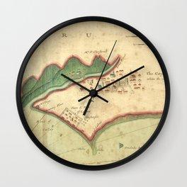 Vintage Map of Lima Peru (1702) Wall Clock