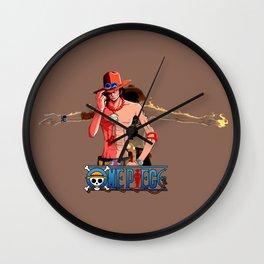 Ace Fire- OnePiece Wall Clock