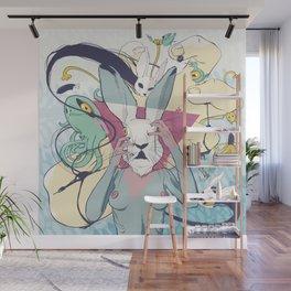 Rabbit Pelt Wall Mural