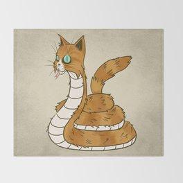 Cat Snake Throw Blanket