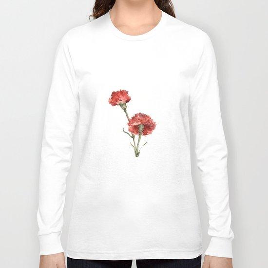 Red Picotee  Long Sleeve T-shirt