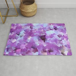 Lilacs And Blue Skies Cubed Rug