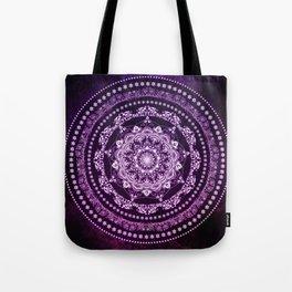 Purple Glowing Soul Mandala Tote Bag