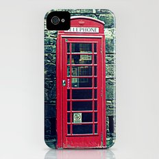 Red Telephone Boxes Slim Case iPhone (4, 4s)