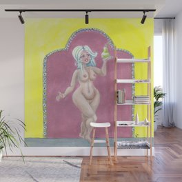 Celeste and the pear Wall Mural