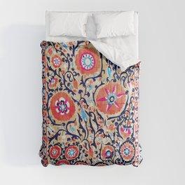 Shakhrisyabz Suzani Uzbek Embroidery Print Comforters