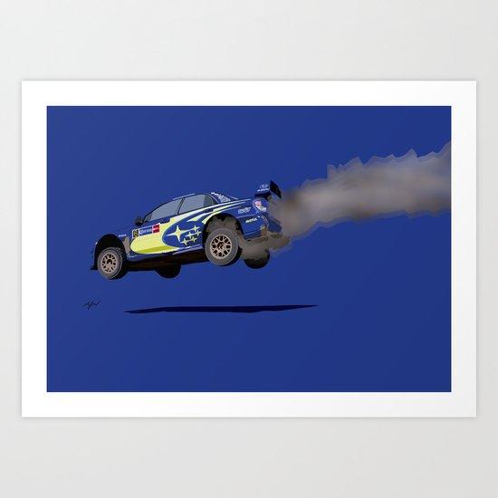 SUBARU IMPREZA WRX RALLY Art Print