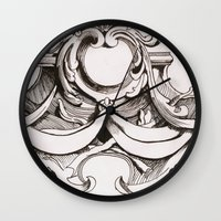 tapestry Wall Clocks featuring Tapestry by Bake