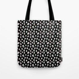 Black Mahjong Pattern Tote Bag