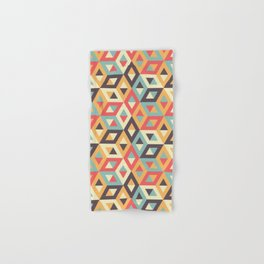 Pastel Geometric Pattern Hand & Bath Towel