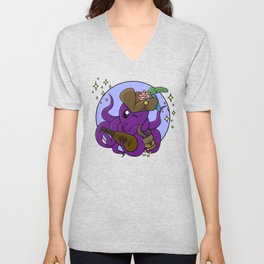 Octopus Bard - Dungeons and Dragons Unisex V-Neck