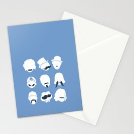 Famous Moustaches blue Stationery Cards